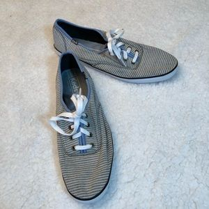 KEDS Navy & White Striped Sneakers 10